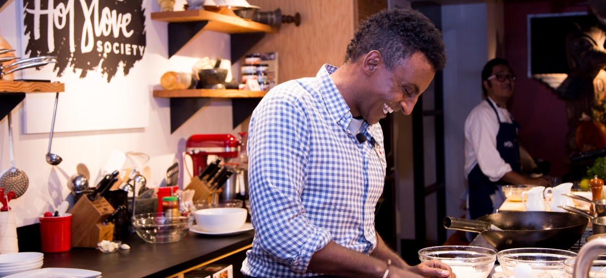 Marcus Samuelsson Visits Hot Stove Society!
